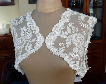 French Lace Bridal Shrug