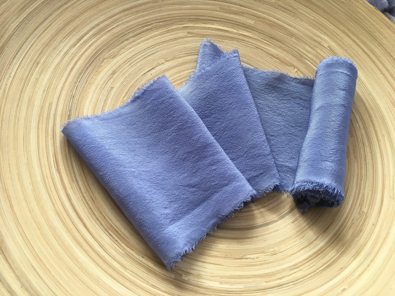 Ruban de soie • la pervenche de teint à la • main d99483
