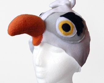 Seagull Hat. Toddler to Adult. Ocean Bird, Fleece.
