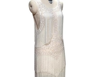1b3ef6a586fe Stunning Ivory 1920's Beaded Wedding Dress, Vintage Flapper, The Great  Gatsby, Downton Abbey, Vintage Bride, Boudoir, Charleston!