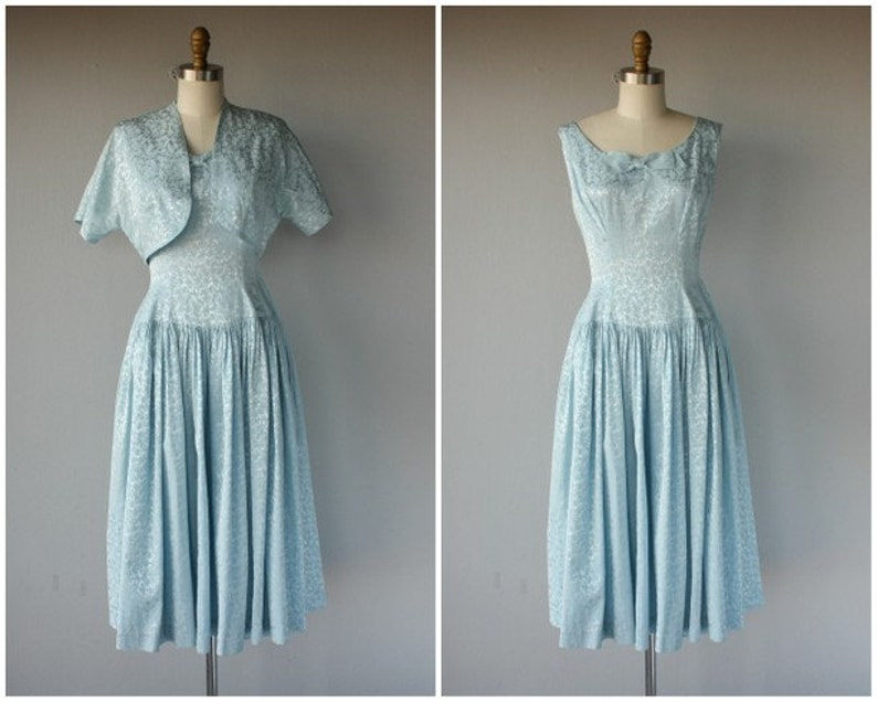bfb5dde3900 Vintage 1950s Party Dress 50s Dress 1950s Cocktail Dress