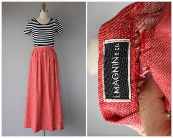 1970s Maxi Skirt   Vintage Chambray Skirt   Chamb… - image 3