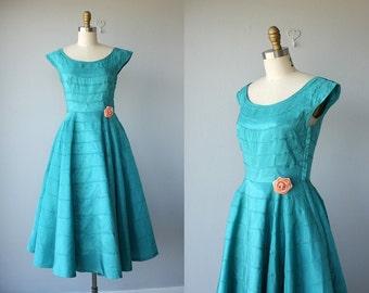 Vintage 1950s Party Dress   50s Cocktail Dress   50s Dress   50s Prom Dress   Vintage 50s Formal Dress - size small