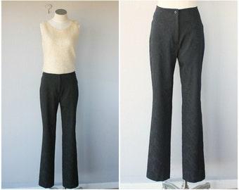 High Waist Pants | Evening Pants | Vintage 1990s Pants | Vintage High Waisted Trousers | Black Pants | Holiday Pants | Evening Pants