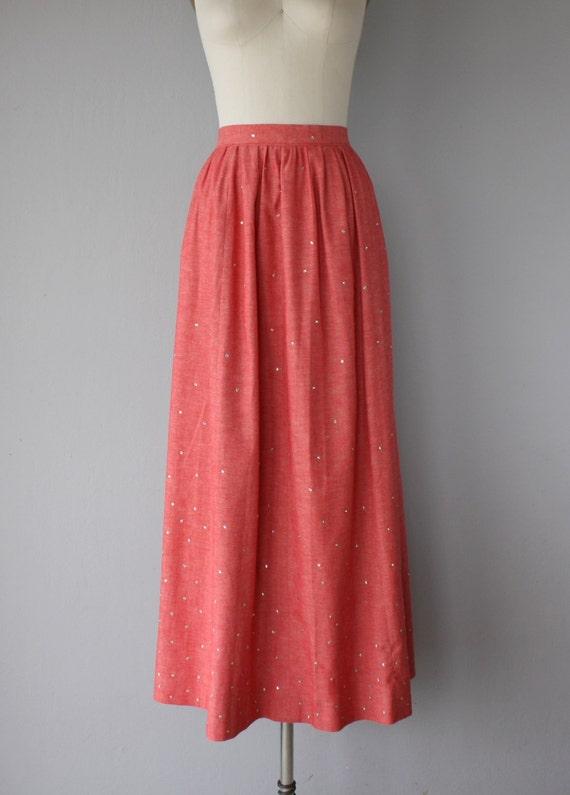 1970s Maxi Skirt   Vintage Chambray Skirt   Chamb… - image 4