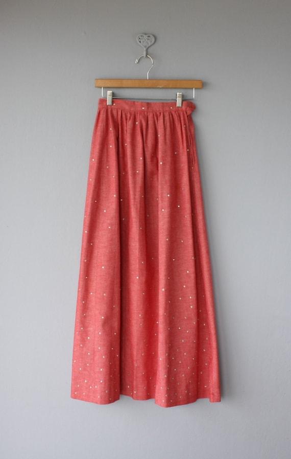 1970s Maxi Skirt   Vintage Chambray Skirt   Chamb… - image 5