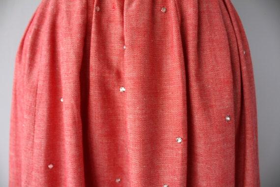 1970s Maxi Skirt   Vintage Chambray Skirt   Chamb… - image 2