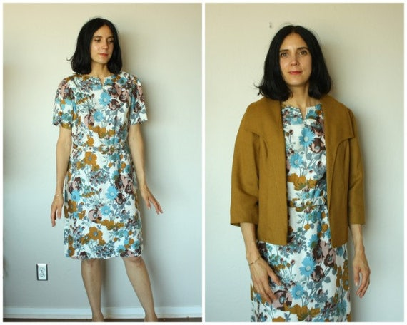 Vintage 1950s Dress • 50s Dress Set • 1950s Day Dr