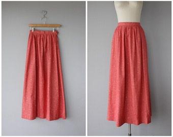 1970s Maxi Skirt   Vintage Chambray Skirt   Chambray Maxi Skirt   Vintage 70s Skirt   70s Maxi Skirt   Red Maxi Skirt