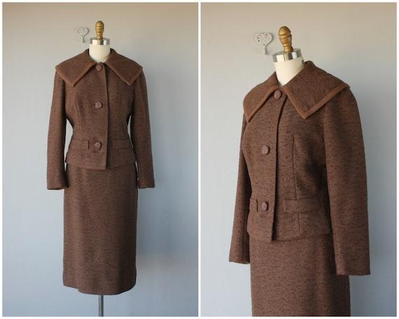 1950s Wool Skirt Suit | 50s Suit | 1950s Ladies Su