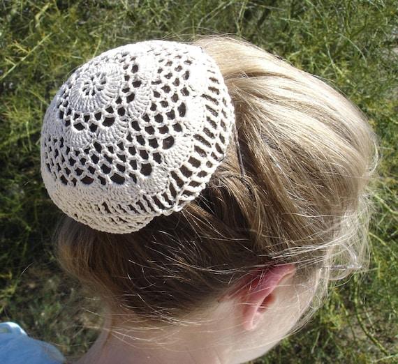 Haare Net / Brötchen Cover Sz große Häkelblume Stil Amish | Etsy