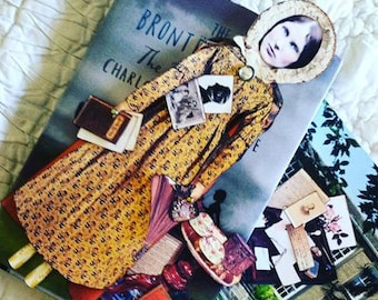 CHARLOTTE BRONTE Digital Paper Doll Collage Sheet digital download AUTHOR of Jane Eyre