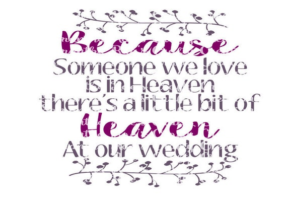 Svg Png Dfx Heaven At Our Wedding Digital Files Wedding Etsy