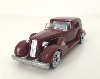 Vintage Hot Wheels 1980s Toys, Die Cast Collectible Car, Father's Day Gift for Car Lover, Mattel Hot Ones Classic 1935 Cadillac Car