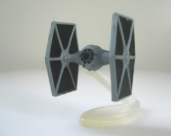 """Star Wars Micro Machines Imperial TIE Fighter with Display Stand, 2"""" Tiny Spaceship Miniature Toy Model, Fathers Day Gift"""