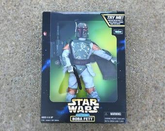 "Star Wars Boba Fett Action Figure, Star Wars Doll, Star Wars Gift for Men, 12"" Star Wars Toy, 90s Vintage Star Wars Electronic Kids Toy"
