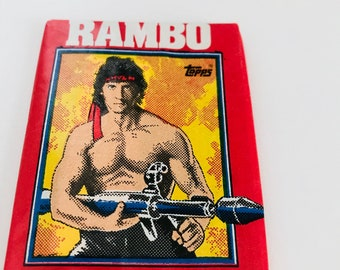 1985 Rambo Trading Cards, Funny Fathers Day Gift, Sylvester Stallone 80s Action Movie, First Blood Part 2, Novelty Gift, ONE UNOPENED PACK