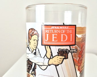 1980s Star Wars Han Solo Burger King Coca Cola Drinking Glass Tumbler, Fathers Day Foodie Gift Men, Luke Skywalker Return of the Jedi