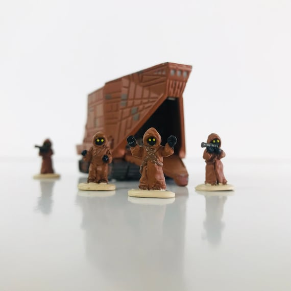 Vinage 1996 JAWA Tatooine SANDCRAWLER Star Wars Micro Machines Transforming Mini Head