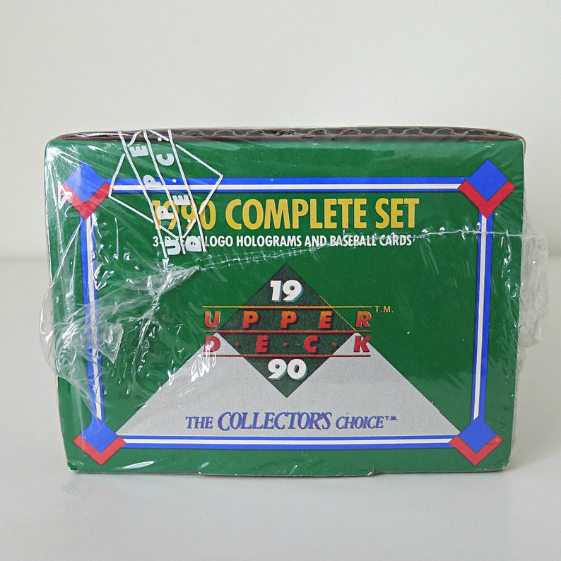 1990 Upper Deck Baseball Cards Complete Set Factory Sealed 800 Cards Total 3d Hologram Team Logos Cubs Yankees Mets Red Sox