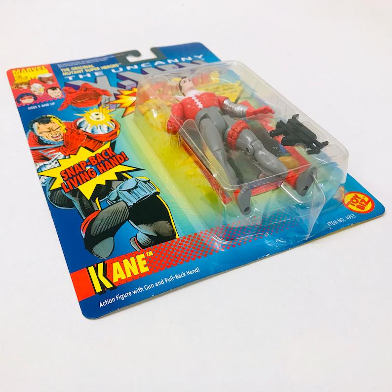 90s Toy Biz Collectible Figurine Vintage Marvel Comics Stan Lee X-Men Action Figure KANE w Trading Card