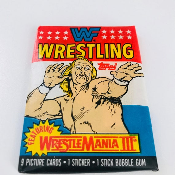 1980s Wwf Wrestling Trading Cards Hulk Hogan Andre The Giant Etsy