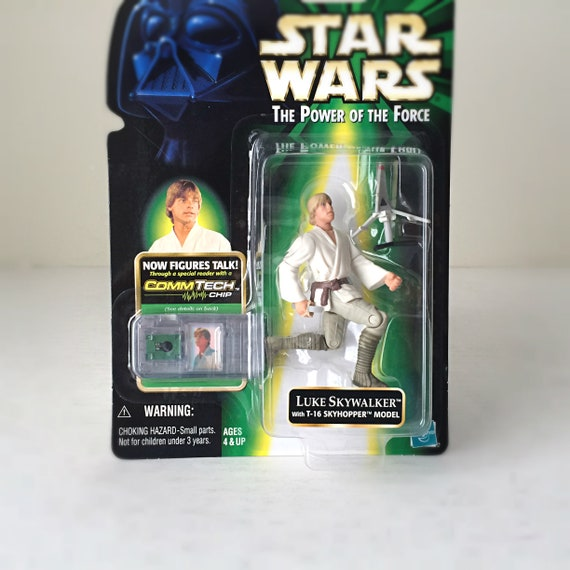 Loose Luke Skywalker with T-16 Commtech Chip Star Wars The Power of the Force