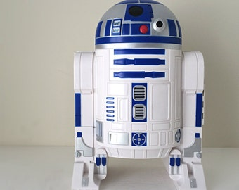 R2D2 Star Wars Action Figure Carrying Case Playset, Vintage Starwars Gifts for Men, R2-D2 Star Wars Droid, 90s Toys