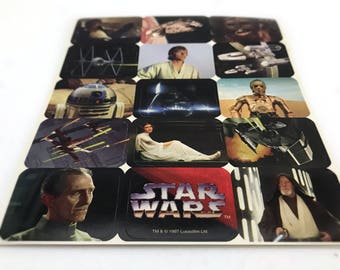 Original Trilogy Star Wars Stickers for Kids, Funny Fathers Day Gift, Princess Leia, R2-D2, Millennium Falcon, X-Wing, Darth Vader