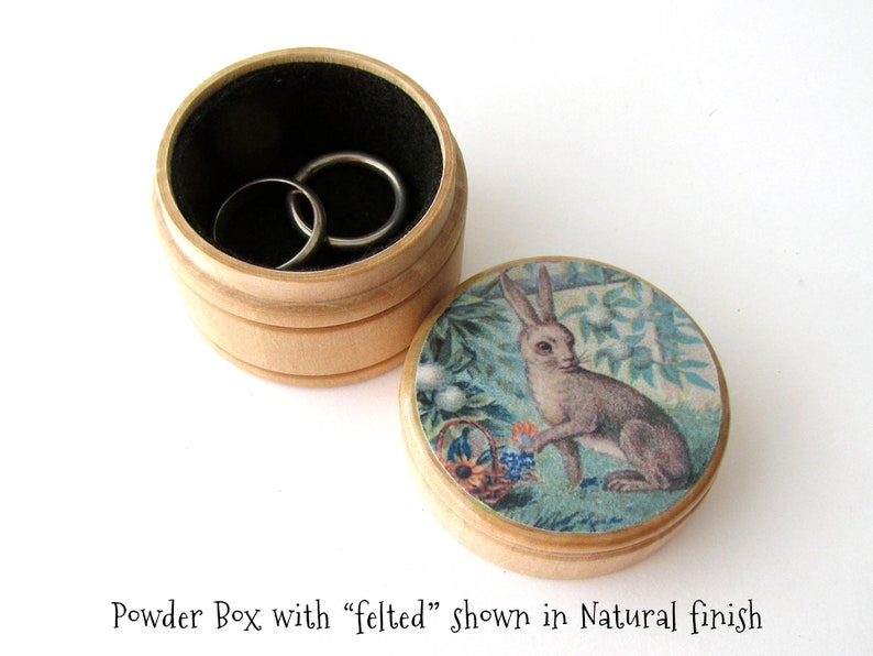 Non Toxic PillVitamin Box Mother/'s Day Jewelry Gift Box Circular Lined Ring Box, White Roses Floral Wallpaper Wooden Storage Box