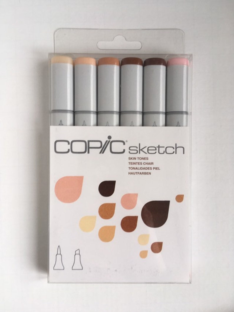 Copic Sketch Marker Set 6 Color Skin Tones Set Colors Include E00 E11 E13 E15 E18 R20 Alcohol Based Refillable Dye Markers Blush