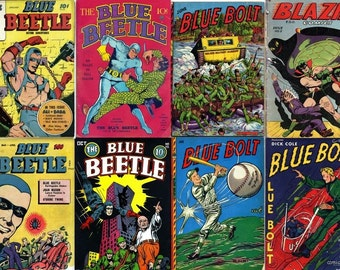 Novelty Comics BLUE BOLT Fox Feature Blue Beetle Comics DVD (Golden Age Vol 10) Joe Simon Captain Flash
