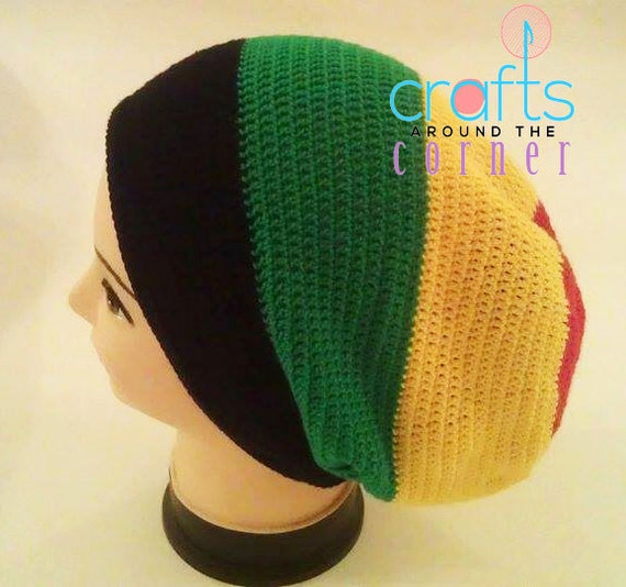 Crochet Rasta Hat Pattern Beanie African Pdf Tam Etsy