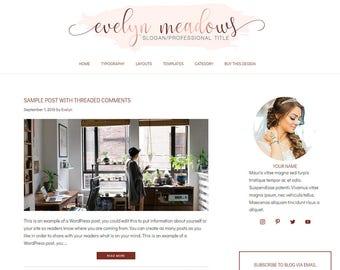 WordPress Blog Theme - Beauty WordPress Design - Self-Hosted WordPress Theme - WordPress Blog Theme - Blog Design - Evelyn II