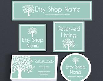 Branding Design - Branding Package Etsy Shop Covers - Etsy Covers Branding Package - Advance Startup Etsy Cover Bundle Tree 1