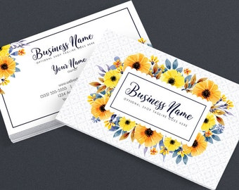 Etsy branding sets and blog designs by rhondajai on etsy business card designs etsy shop business cards 2 sided printable business card design floral business card design fac colourmoves