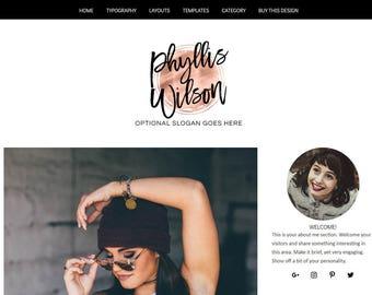 WordPress Blog Theme - Lifestyle Blog Design -  WordPress Theme - WordPress Blog Design and Installation - Phyllis