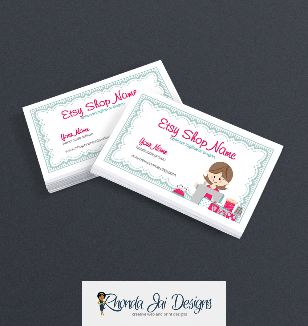 Sewing business cards business card designs business card design free shipping reheart Images