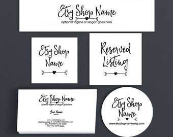 Etsy Branding Package - Etsy Shop Covers - Etsy Covers Branding Package - Etsy Shop Set Advance Startup - Ella