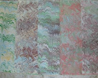 5 /   cm 50 X 70   Italy   hand  marbled paper, carta marmorizzata, papier marbrè,  bookbinding, legatoria,   - A029