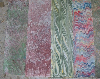 5 /  cm 50 X 70  Italy   hand  marbled paper, carta marmorizzata, papel marmolaso,  bookbinding, legatoria,   - A028