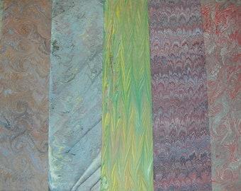 5    cm 70 X 100 Italy   hand  marbled paper carta marmorizzata ebru  bookbinding legatoria   - A034