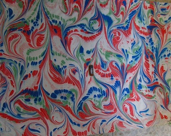 Italy   hand  marbled paper paintingSIGNED  dipinto carta marmorizzata  cm 70 x 100  273 X  39     - p025N FIRMATO