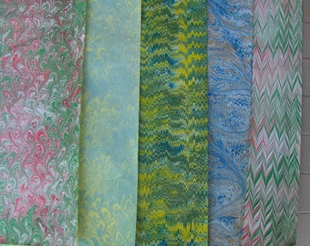 5   cm 70 X 100  hand marbled paper Italy handmarmorpapier papier marbr ebru -    - B017