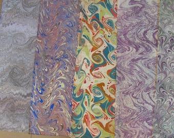 5 /  cm 50 X 70  Italy   hand  marbled paper, carta marmorizzata,  marmerpapier,  bookbinding, legatoria,   - A025
