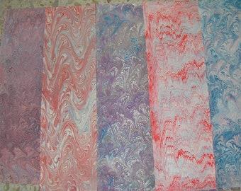 5 /  cm 50 X 70  Italy  hand  marbled paper, carta marmorizzata a mano,  bookbinding, legatoria,   - A027