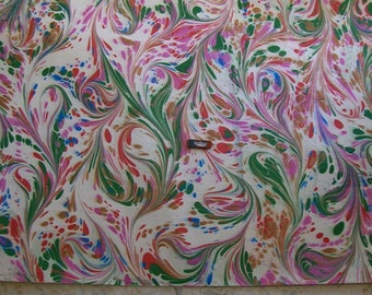 Italy   hand  marbled paper paintingSIGNED  dipinto carta marmorizzata  cm 70 x 100  273 X  39     - p028N FIRMATO