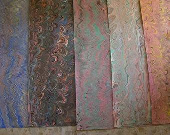 5 / cm 50 X 70  Italy   hand  marbled paper, handmarmorpapier , papier  marbrè,  ebru - A023