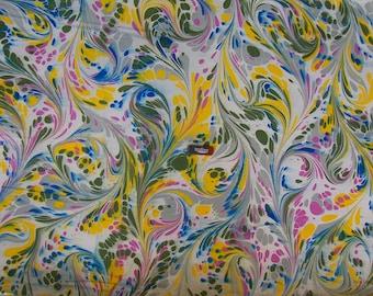 """marbling Carta di cotone Amatruda Amalfi SIGNED ,carta di cotone , cm 70 x 100 , 27,3"""" X 39"""" , un mano - P015 FIRMATO - P015"""