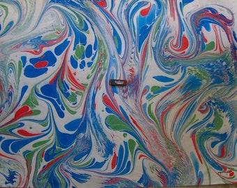 """Italia pittura di carta marmorizzata a mano SIGNED, carta carta marmorizzata, cm 70 x 100 , 27,3"""" X 39"""" , p023N FIRMATO"""